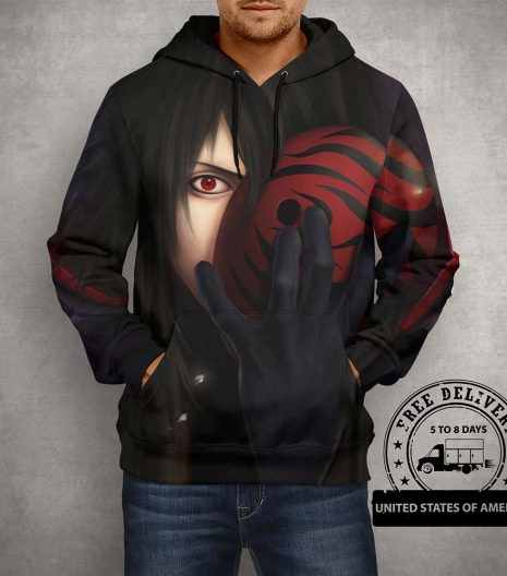 Anime Naruto Sharingan Nagato Hoodie – 3D Printed Pullover Hoodie