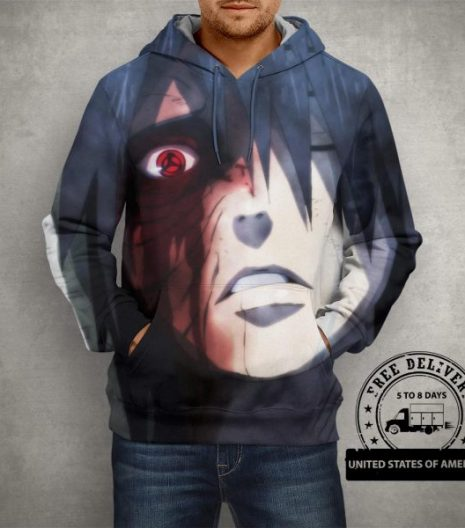Anime Naruto Uchiha Obito Hoodie – 3D Printed Pullover Hoodie