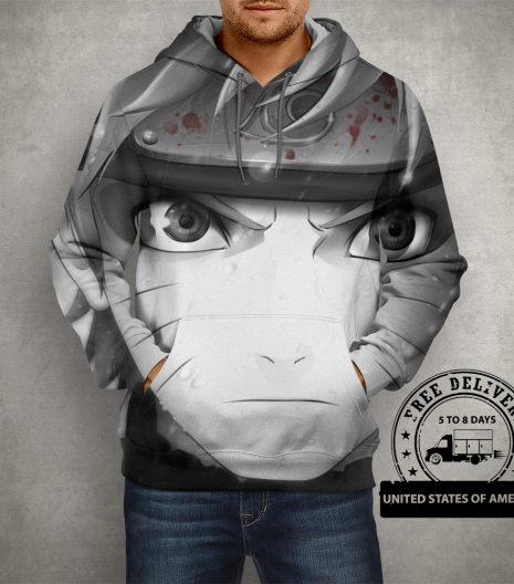 Anime Naruto Uzumaki Sage Mode Hoodie – 3D Printed Pullover Hoodie
