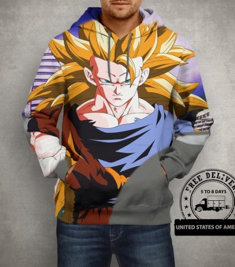 Anime Son Goku Dragon Ball Z Hoodie – 3D Printed Pullover Hoodie