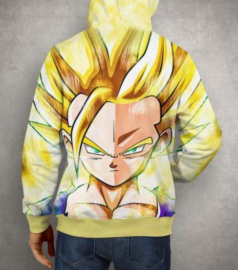 Anime Super Gohan Yellow 3D Print Pullover Hoodie