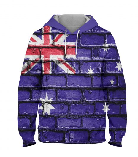 Australia Flag on Wall – 3D Printed Pullover Hoodie