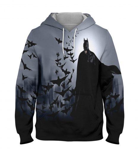 Batman Black Hoodie – 3D Printed Pullover Hoodie