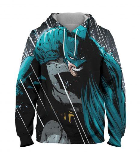 Batman Green Hoodie – 3D Printed Pullover Hoodie