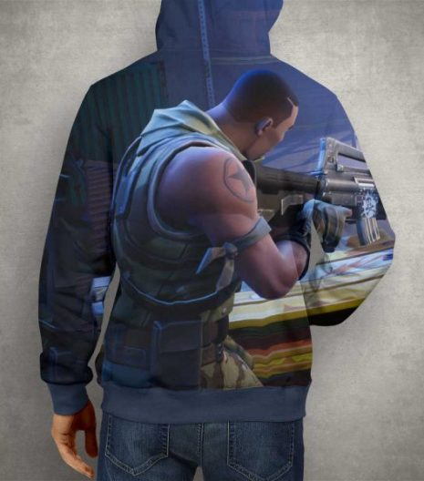 Battle Royale Fortnite Hoodie – 3D Printed Pullover Hoodie