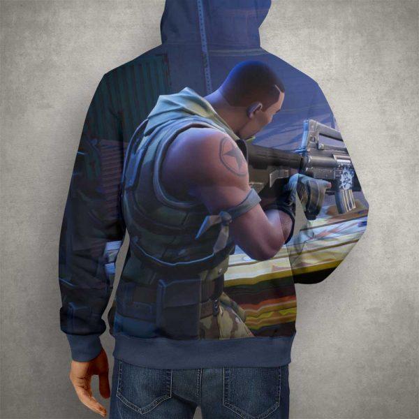 Battle Royale Fortnite Hoodie – 3D Printed Pullover Hoodie1