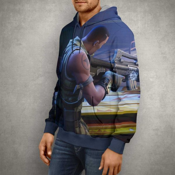 Battle Royale Fortnite Hoodie – 3D Printed Pullover Hoodie2
