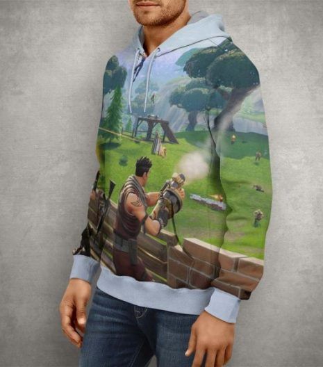 Battle Royale Fortnite Season Four Hoodie – 3D Printed Pullover Hoodie