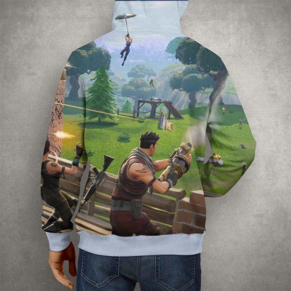 Battle Royale Fortnite Season Four Hoodie – 3D Printed Pullover Hoodie21