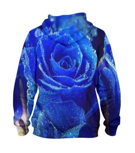 Blue Flower – 3D Printed Pullover Hoodie