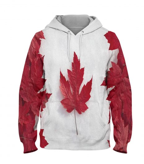 Canada Flag Read leave Hoodie – 3D Printed Pullover Hoodie