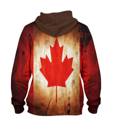 Canada Flag leave Hoodie – 3D Printed Pullover Hoodie
