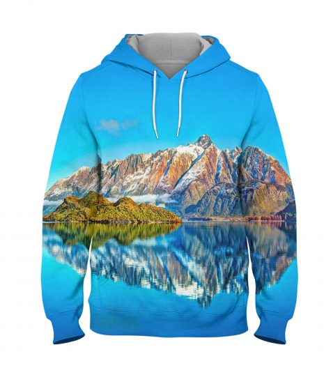Earth Scenic – 3D Printed Pullover Hoodie
