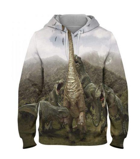 Fighter Dinosaur – 3D Printed Pullover Hoodie