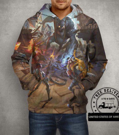 Fortnite Battle Royale Brown Hoodie – 3D Printed Pullover Hoodie