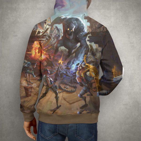 Fortnite Battle Royale Brown Hoodie – 3D Printed Pullover Hoodie2