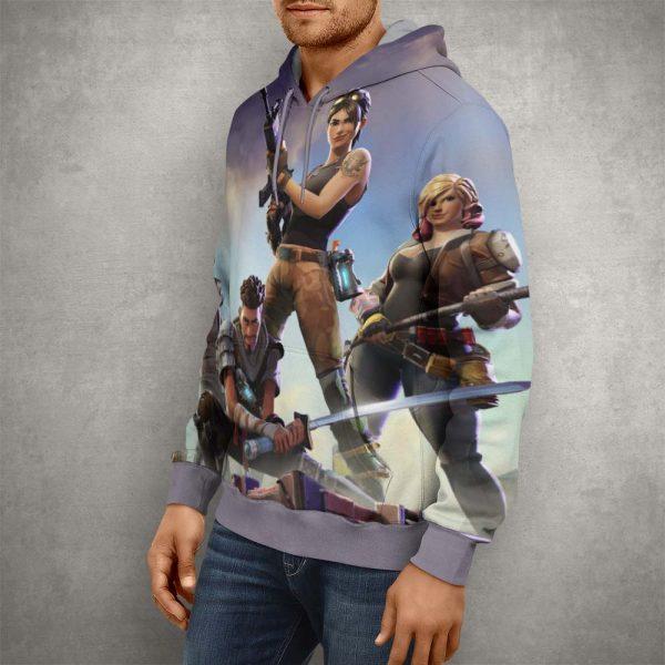Fortnite Battle Royale Team Hoodie – 3D Printed Pullover Hoodie1