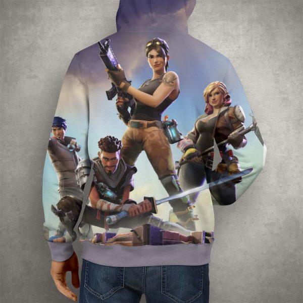 Fortnite Battle Royale Team Hoodie – 3D Printed Pullover Hoodie2