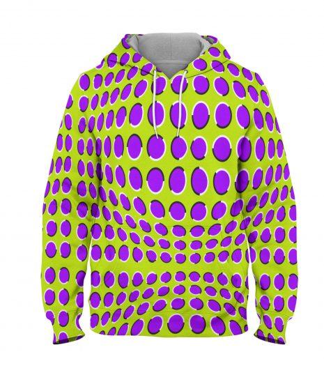 Graphic Illusion Purple Circle-Hoodie – 3D Printed Pullover Hoodie