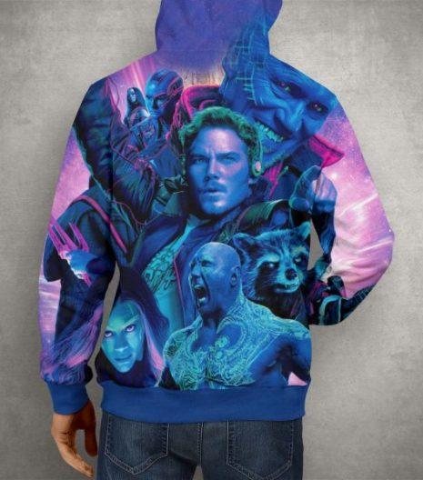 Guardian of the Galaxy 2 Purple Hoodie – 3D Printed Pullover Hoodie