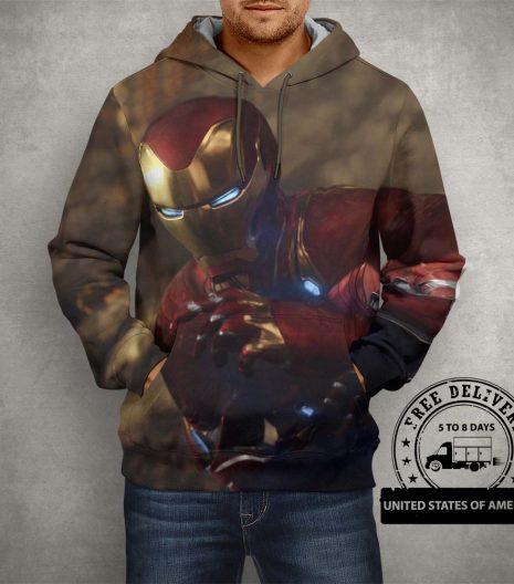 Iron Man Brown Hoodie – 3D Printed Pullover Hoodie