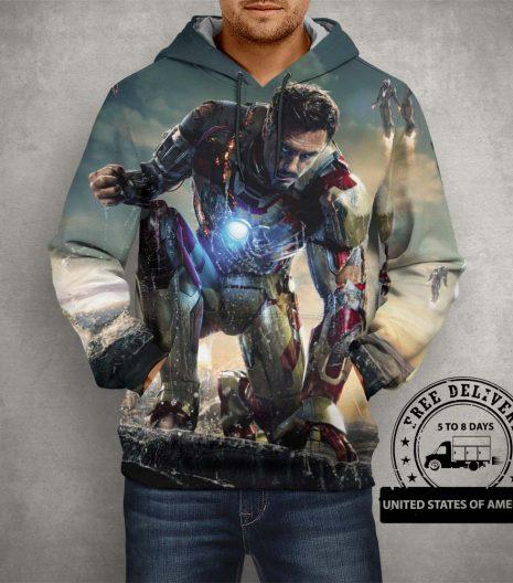 Iron Man Hoodie – 3D Printed Pullover Hoodie