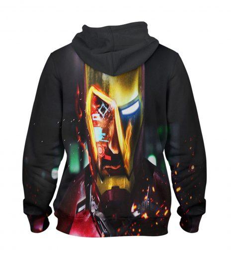 Iron men vs ultron Hoodie – 3D Printed Pullover Hoodie