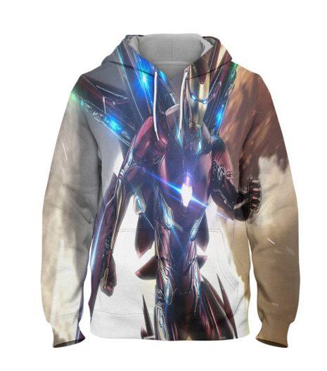Ironman Hoodie – 3D Printed Pullover Hoodie