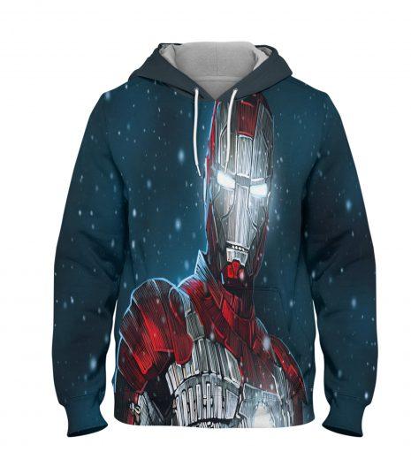 Ironman Wiki Hoodie – 3D Printed Pullover Hoodie