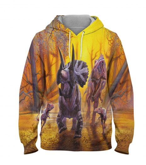 Killer Dinosaur – 3D Printed Pullover Hoodie