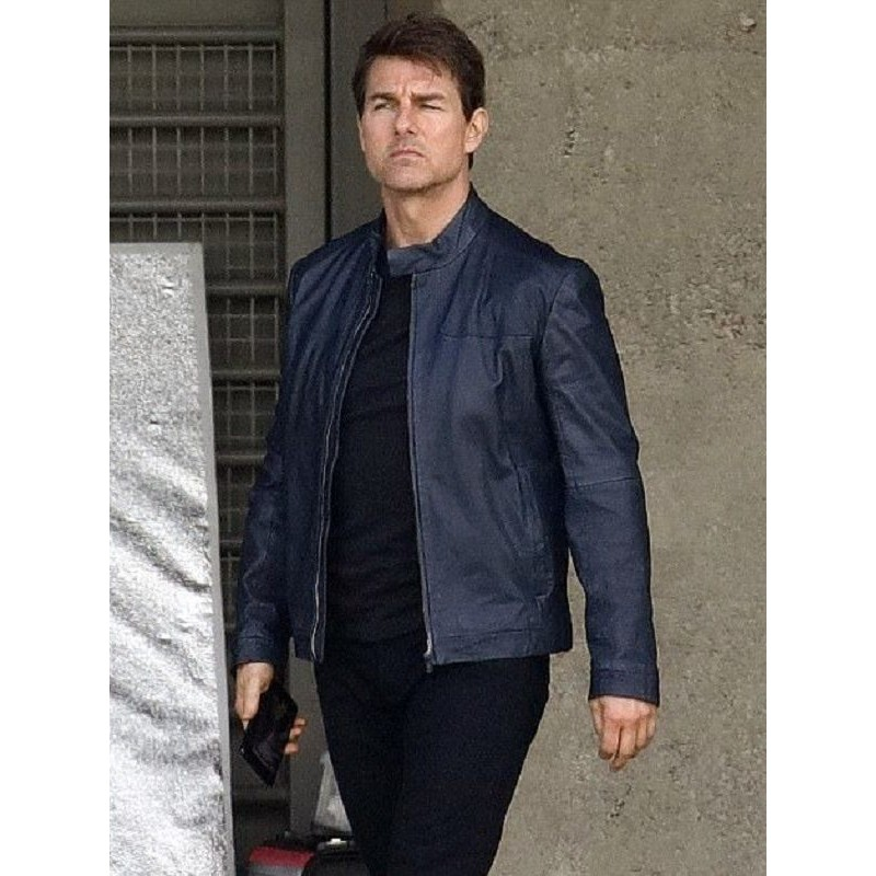 Mission Impossible 7 Tom Cruise Leather Jacket 2021