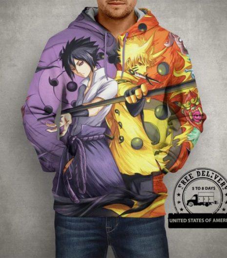 Naruto Sasuke Power Jinchuuriki Sharingan Hoodie