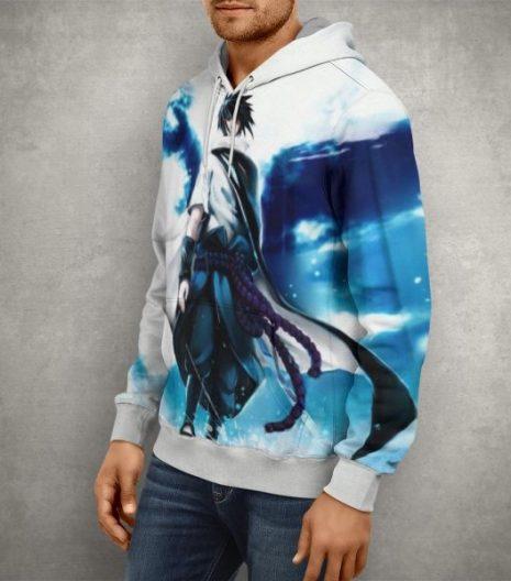 Naruto Uchiha Sasuke Hoodie – 3D Printed Pullover Hoodie