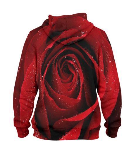 Red Flower – 3D Printed Pullover Hoodie
