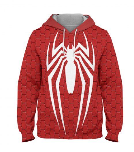 Red Spider Man Hoodie – 3D Printed Pullover Hoodie