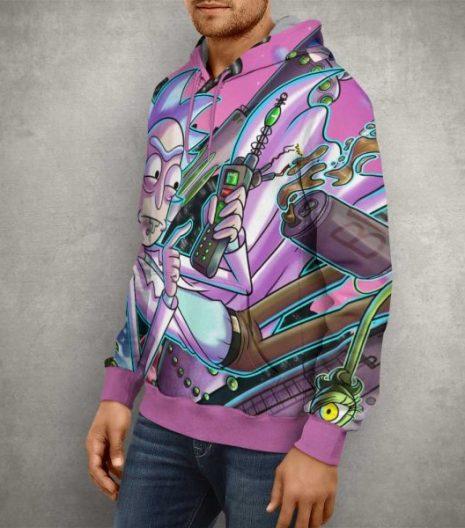Rick & Morty Funny Scientist Rick Hoodie – 3D Printed Pullover Hoodie