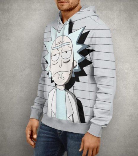 Rick & Morty Scientist Rick Hoodie – 3D Printed Pullover Hoodie