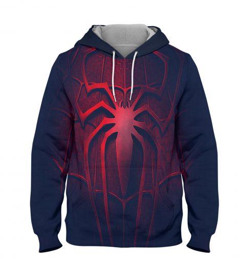Spider Man 3d Logo Hoodie – 3D Printed Pullover Hoodie