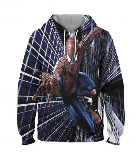 Spider man Hoodie – 3D Printed Pullover Hoodie