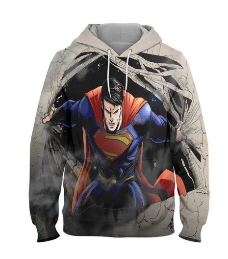 Superman Night Power Hoodie – 3D Printed Pullover Hoodie