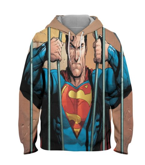 Superman Power Hoodie – 3D Printed Pullover Hoodie