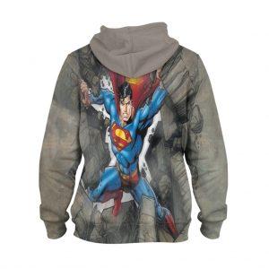 Superman Wall Break Hoodie – 3D Printed Pullover Hoodie