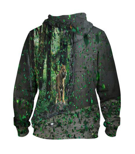 Tiger Forest 3d Hoodie – 3D Printed Pullover Hoodie