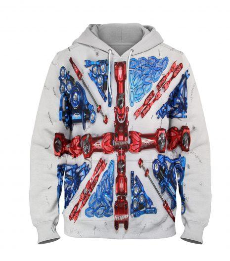 UK Flag Stylish Hoodie – 3D Printed Pullover Hoodie