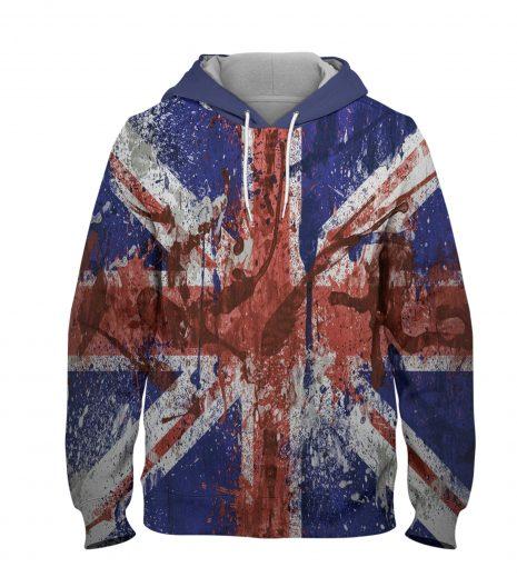 UK Old Flag Hoodie – 3D Printed Pullover Hoodie