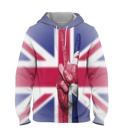 UK Victory Flag – 3D Printed Pullover Hoodie