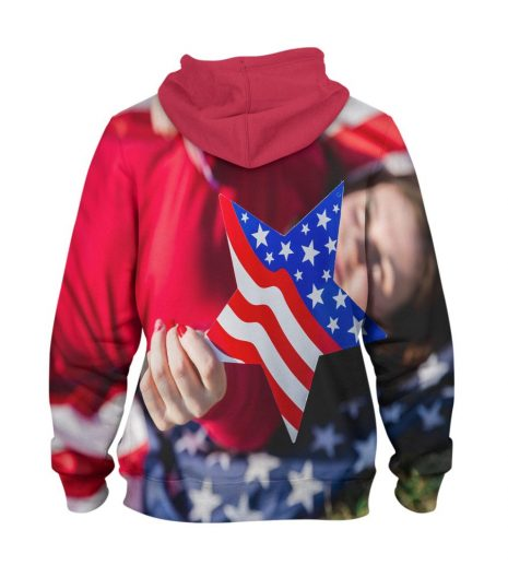USA Star Hoodie – 3D Printed Pullover Hoodie