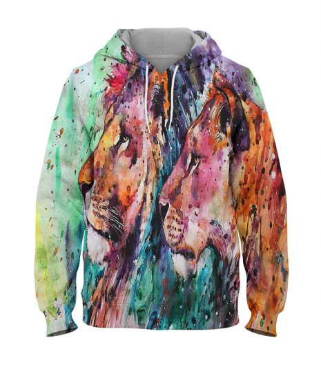 Water Colour – 3D Printed Pullover Hoodie
