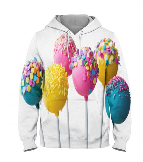 White Candy- 3D Printed Pullover Hoodie