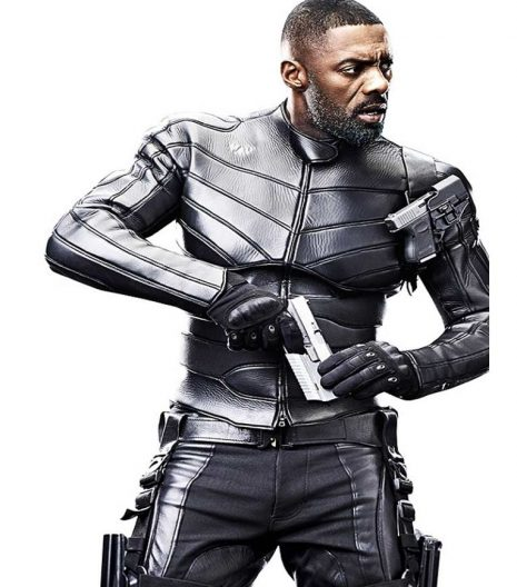 Fast & Furious Hobbs & Shaw Idris Elba Black Leather Jacket